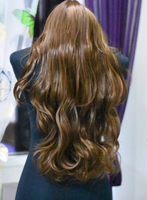 Used Long Wavy Light Brown Wig/ 65 cm in Dubai, UAE