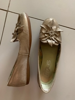 Used Golden leather shoes size 37 in Dubai, UAE
