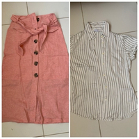 Used Midi skirt and shirt offer in Dubai, UAE