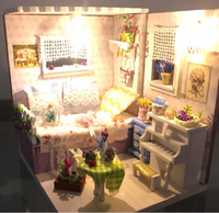 Miniature dollhouse. Handmade.