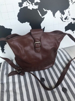 Used Chocolate Genuine leather bag in Dubai, UAE