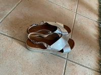 Used Riva, silver sandals  in Dubai, UAE