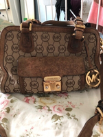 Used MK Micheal Kors Monogram handbag ORIGINA in Dubai, UAE