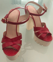 Used Red Platform Shoes in Dubai, UAE