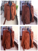 Suede long jacket new sizeS