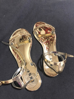 Used DKNY Gold Flat Sandal New in Dubai, UAE