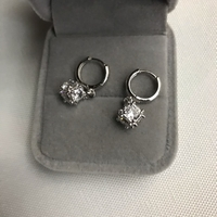 Used 925 silver inbox pearl design earrings  in Dubai, UAE