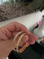 Used Gold plated hoops with cz in Dubai, UAE