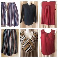 Used striped culottes size M+3 Tops size L in Dubai, UAE
