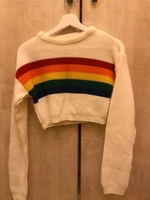 Used White/Rainbow knitted crop top in Dubai, UAE