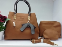 Used DIOR LADIES BAG BROWN COLOR 3 psc in Dubai, UAE