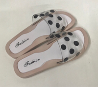 Used Jelly Summer Slipper Polka Dots White/39 in Dubai, UAE