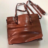 Used Leather brown shoulder bag(new) in Dubai, UAE