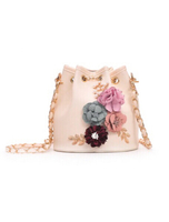 Used beige bucket-style handbag - small in Dubai, UAE
