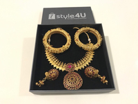 Used Preloved Gold plated Jewelry Set, 5Pcs in Dubai, UAE
