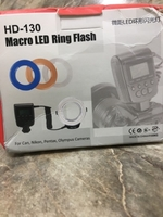 Used Attachable Marco LED ring flash one set  in Dubai, UAE