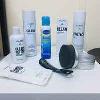 Used ALDO Leather shoes grooming kit + other in Dubai, UAE