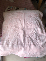 Used Juniors quilted plush blanket ,baby pink in Dubai, UAE