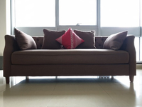 Used Huzaifa 3 seater sofa, beige brown  in Dubai, UAE