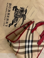 Used Authentic Burberry Bag leather w card  in Dubai, UAE