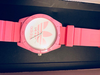 Used Adidas watch pink  in Dubai, UAE