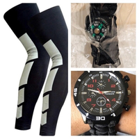 Used knee protection support size L+watch in Dubai, UAE