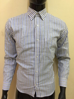 Used White n blue stripe shirt - Size 38 in Dubai, UAE