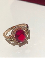 Used Ring Rose gold plated size 10 in Dubai, UAE