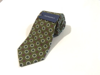 NEW SUIT SUPPLY Tie Graphic Green 8cm•