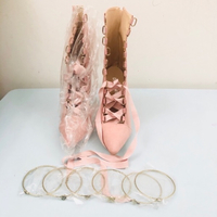 Pink high heels size 36 + free bangles