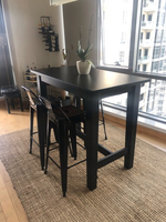 Used Tall dining table and 4 metal stools in Dubai, UAE