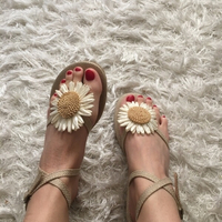 Used New flower summer sandals (size 39) in Dubai, UAE
