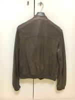Used Massimo Dutti Brown Leather Jacket - L in Dubai, UAE