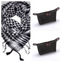 Used Scarf + 2 Black cosmetic bags mooj0389 in Dubai, UAE