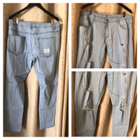 Used Men's ripped denim size XXL in Dubai, UAE
