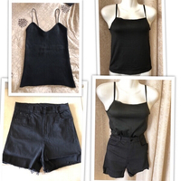 Used 2 Tops size S & 1 denim shorts size S in Dubai, UAE