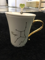 Used Mug with cover and spoon Virgo sign  in Dubai, UAE
