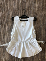 Used H&M  white top size UK10 new in Dubai, UAE