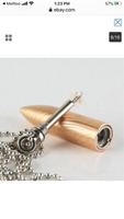 Used Bullet lightener necklaces rose gold 2pc in Dubai, UAE