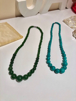 Used 2 necklaces jade/turquoise stone  in Dubai, UAE
