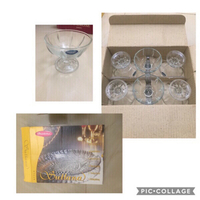 Glass Bowl set x6 and Glass Plate@20
