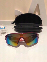 Used Sport polarized sunglasses red + case in Dubai, UAE