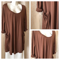 Used Long brown top/dress size XL in Dubai, UAE