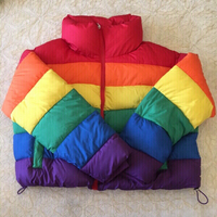 Used Rainbow Puffer Jacket in Dubai, UAE