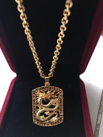 Used Gold plated Dragon Necklace  in Dubai, UAE