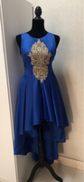 Customize blue dress