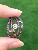 Used 925 silver rose gold plated ring in Dubai, UAE
