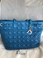 Used Original DIOR Blue Cannage Tote Bag in Dubai, UAE