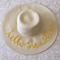 "Used Oliver Bonas ""Hello Sunshine"" straw hat in Dubai, UAE"