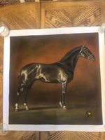 Used Black horse handmade oil painting  in Dubai, UAE